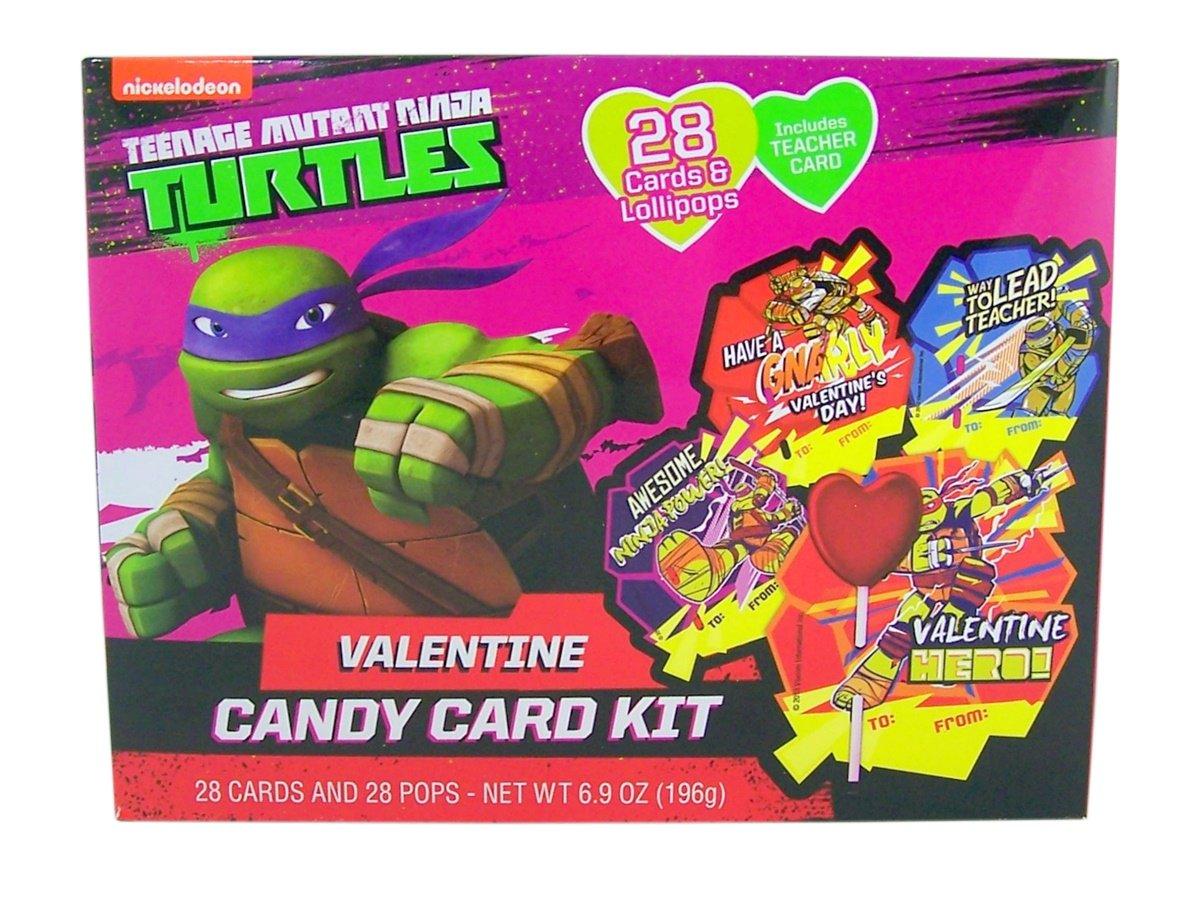 Nickelodeon Teenage Mutant Ninja Turtles Valentines Day Card Exchange Kit with Lollipops, 28 Count