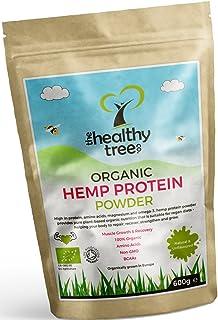 TheHealthyTree Company Proteína de Cáñamo Orgánico en Polvo - Cosechado en Europa con alto contenido en