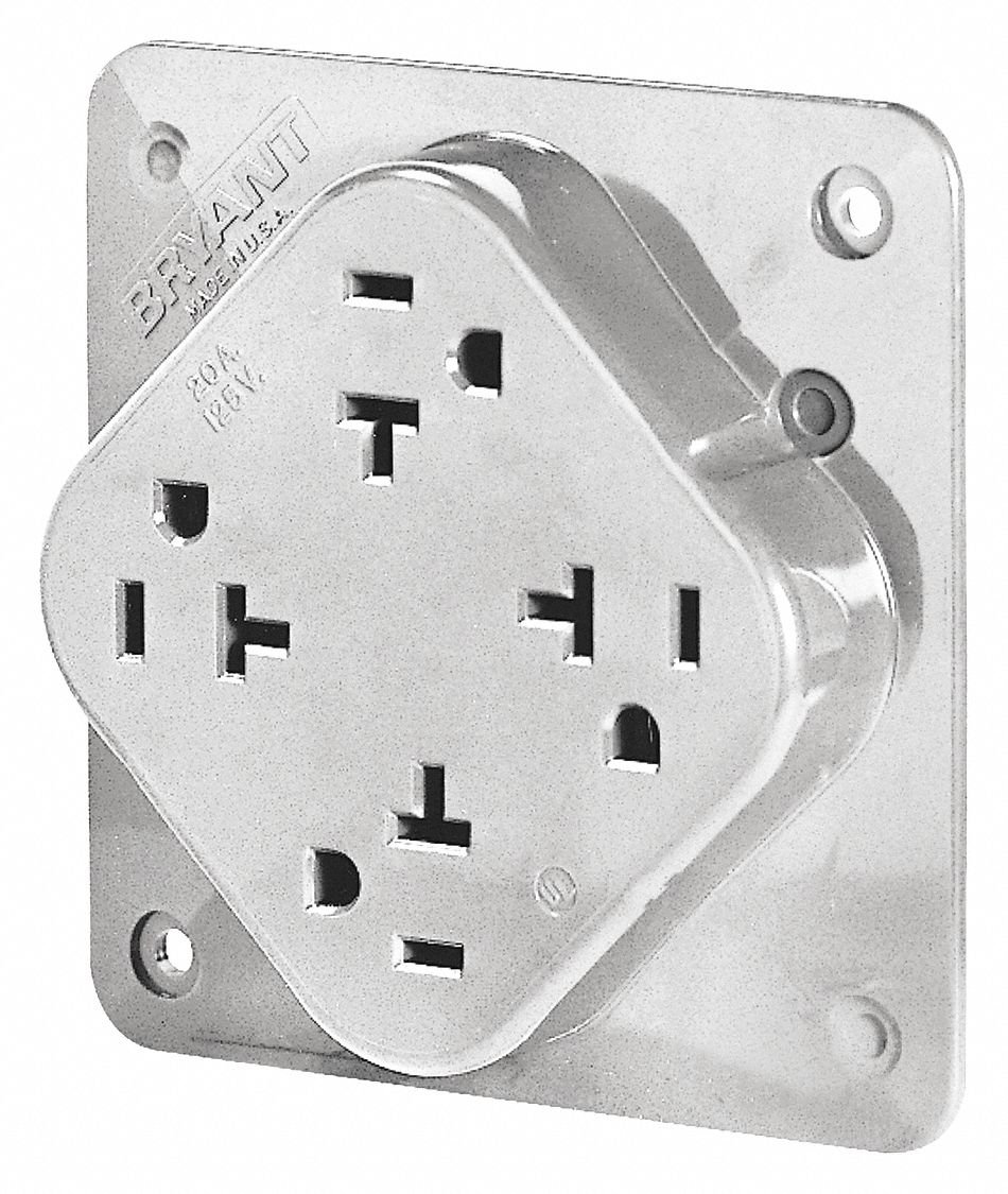 20A Commercial Environments Receptacle, White; Tamper Resistant: No