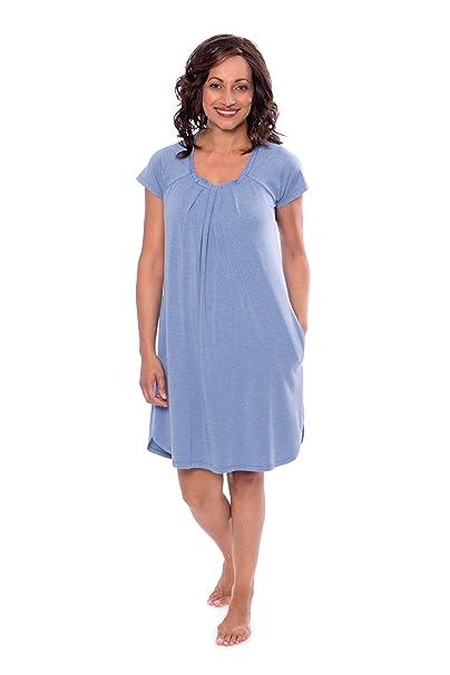 e611288050 Women s Cap Sleeve Nightgown - Bamboo Viscose Sleepwear by Texere  (Slumberous