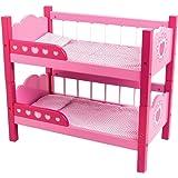 Dolls World 8612 - Literas para muñecas de hasta 46 cm, color rosa