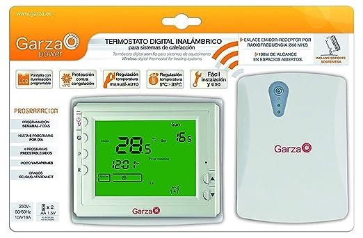 Garza 400607 Cronotermostato, Blanco, 115 × 90 × 32 Mm: Amazon.es: Bricolaje y herramientas