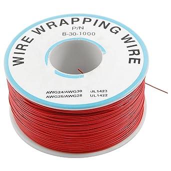 Sourcingmap a12041600ux0145 - Pcb soldadura de estaño 0,25 mm cable de cobre recubierto de