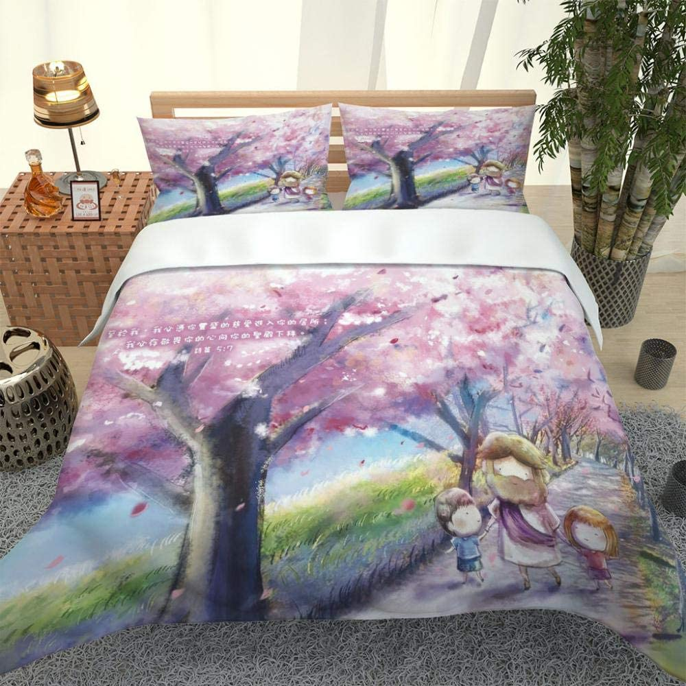 RYQRP Single Duvet Cover Set Cartoon
