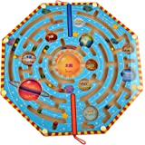 Finer Shop Magnets Puzzle Maze Kids Wooden Toy Nine Planets Magnetic Labyrinth Educational Fun Games for Children