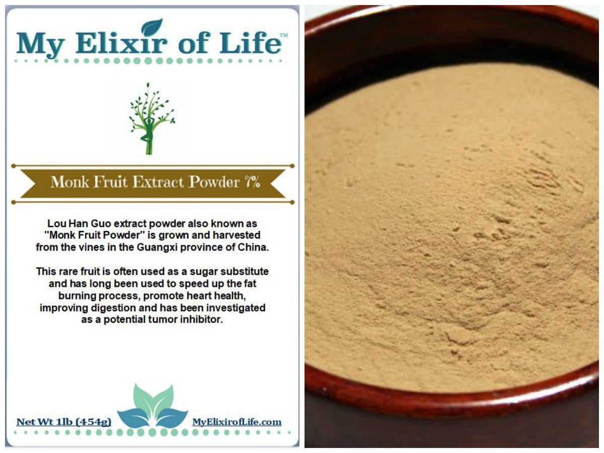 Luo Han Guo EXTRACT Powder MONK FRUIT -7% Mogrosides Powder 1 lb