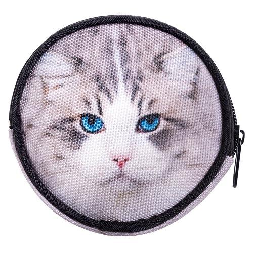 Ferocity Ronda cartera cremallera funda Organizador para dinero tarjeta moneda soporte Unisex Funny gato gris Grey Cat [041]: Amazon.es: Zapatos y ...