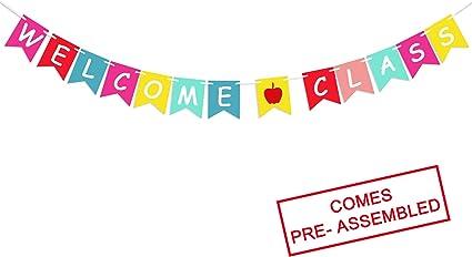 Amazon.com: Banderines de bienvenida para profesores, para ...