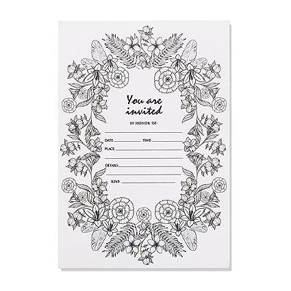 30 Unique Invitations With Envelopes Elegant Party Invitation Cards Set Wedding Bridal Shower