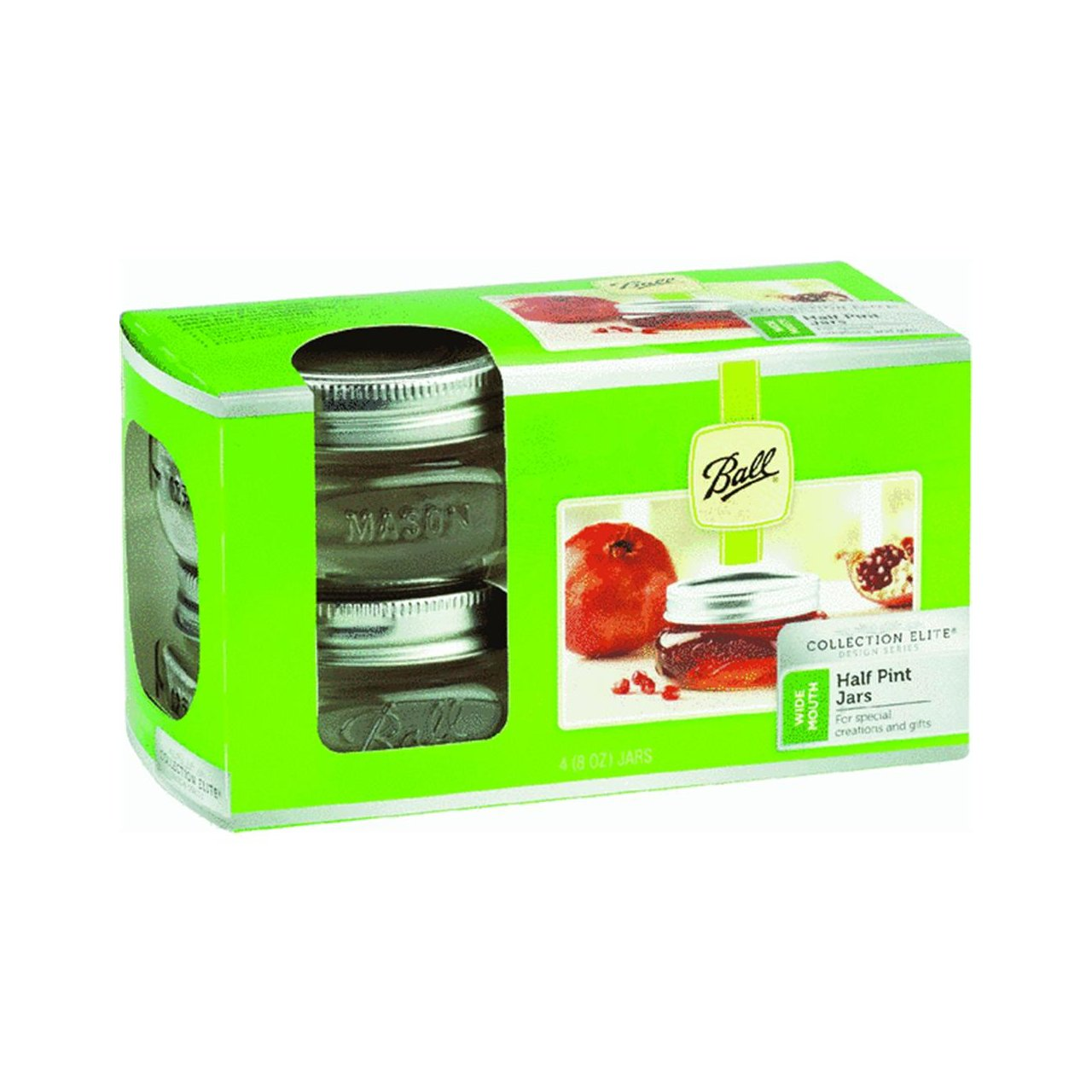 Ball 61162 Wide Mouth Canning Jar, 4-Pack
