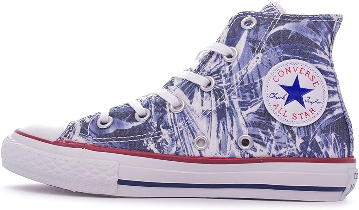 All Star Chuck Taylor High Shoes Blue Palms 648396C Blu
