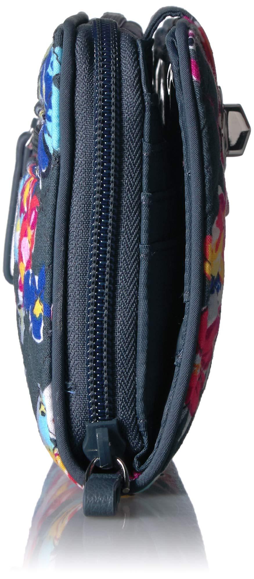Vera Bradley Iconic RFID Turnlock Wallet, Signature Cotton, pretty Posies by Vera Bradley (Image #3)