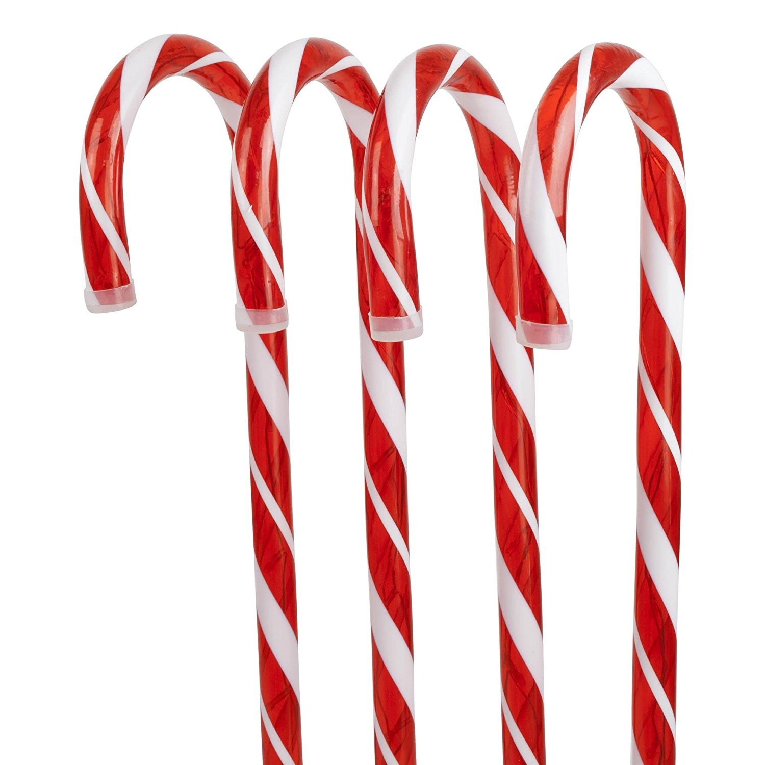 Festive Productions Candy Cane Stake Lights, 62 cm - Multi-Colour, Set of 4 P003987