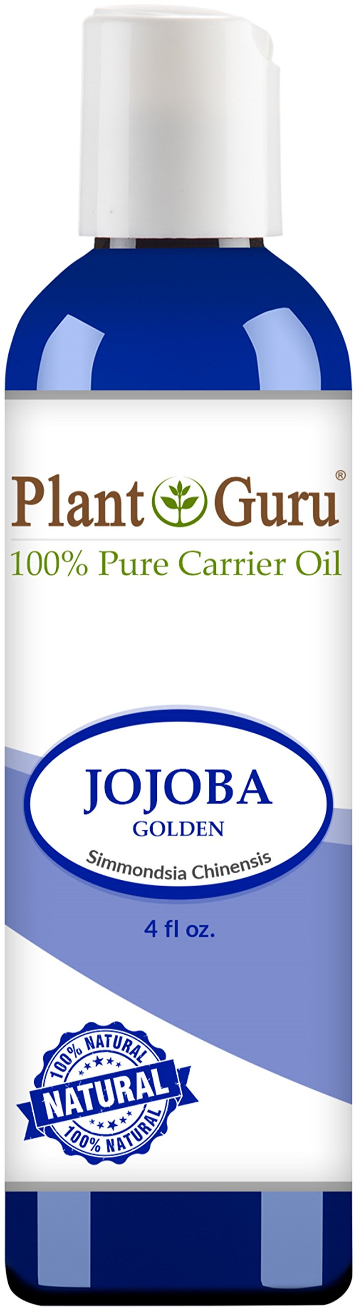 Jojoba Oil 4 oz. Cold Pressed 100% Pure Natural Carrier - Skin, Body And Hair Moisturizer. Works For Massage, Aromatherapy, & More!