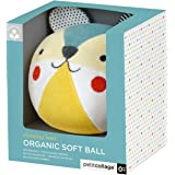 Petit Collage Organic Baby Chime Ball | Bear Baby Toy