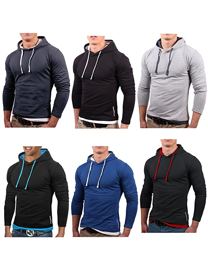 Bents & Mood Slim Fit Hoodie Kapuzenpullover Sweatshirt Hemd Jacke, BM01:  Amazon.de: Auto
