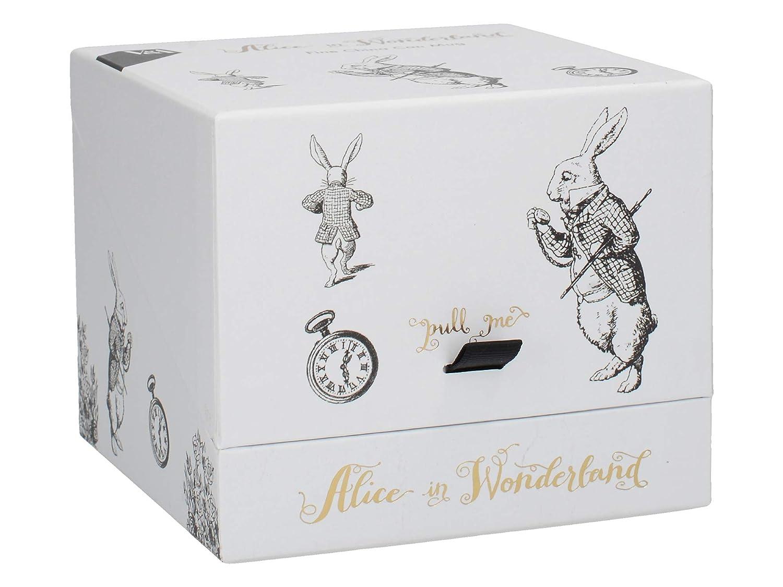 Tazza Alice nel paese delle meraviglie in confezione regalo coniglio bianco motivo V/&A C000051