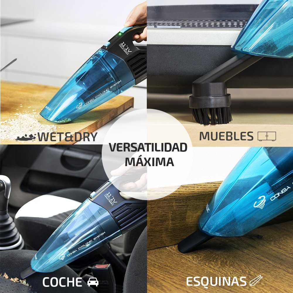 Cecotec Conga Powerhand Wet Handheld Vacuum Cleaner For Solids And  # Muebles Yoyo Santiago