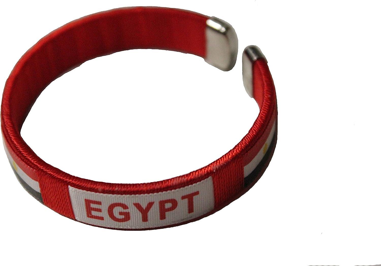 SUPERDAVES SUPERSTORE Egypt RED Country Flag Logo C' Bracelet Wristband. New