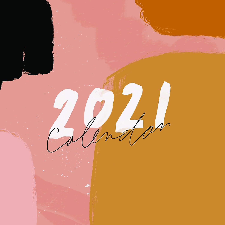 2021 Inspirational Christian Calendar, Wall Calendars, Calligraphy Calendar, Christian Planner, Minimalist, Jenessa Wait (12x12 inch)