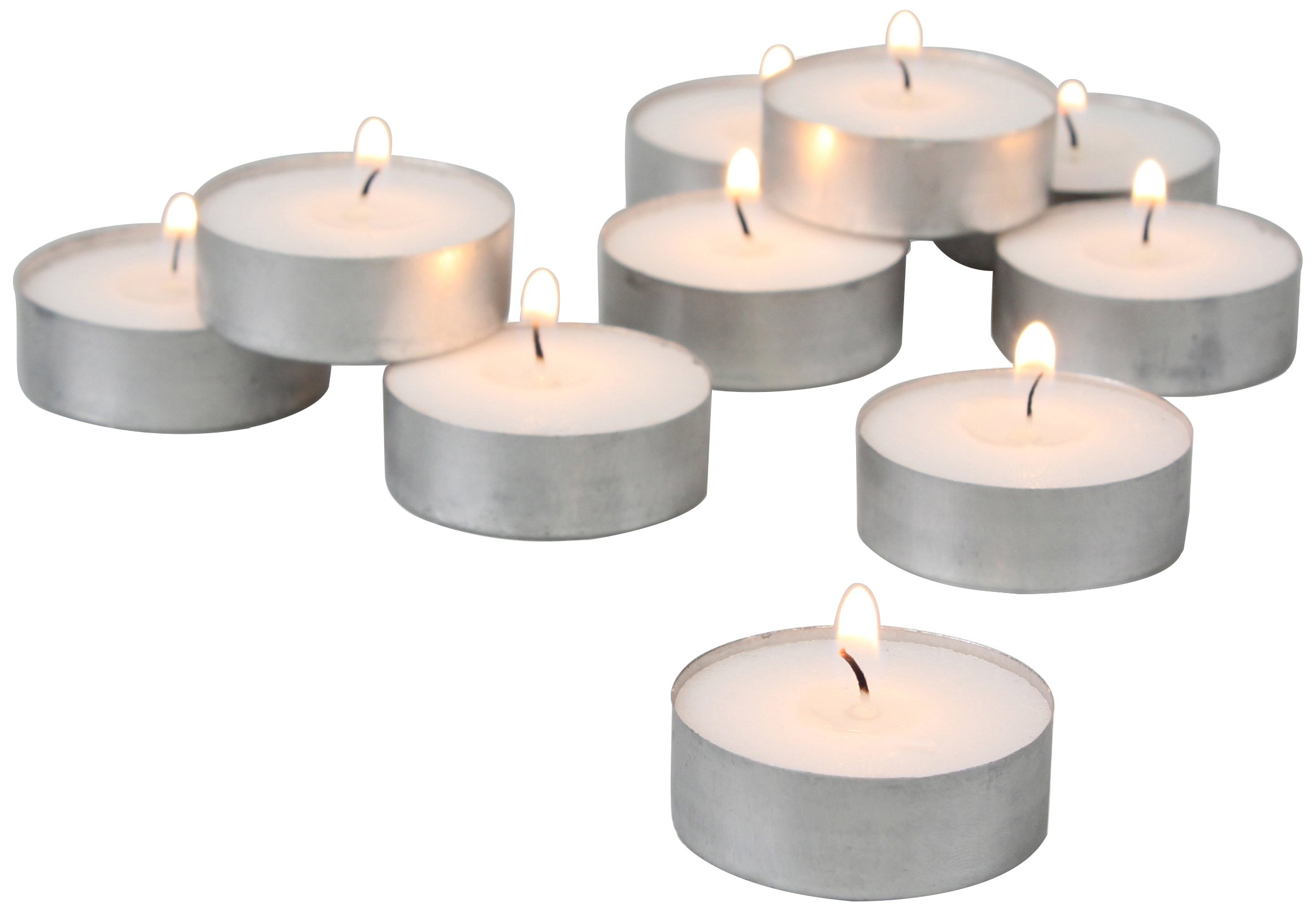 Stonebriar 4 Hour White Unscented Long Burning Tea Light Candles, Candle Accessories Birthdays, Weddings, Spas Everyday Home Decor, Bulk 150 Pack by Stonebriar