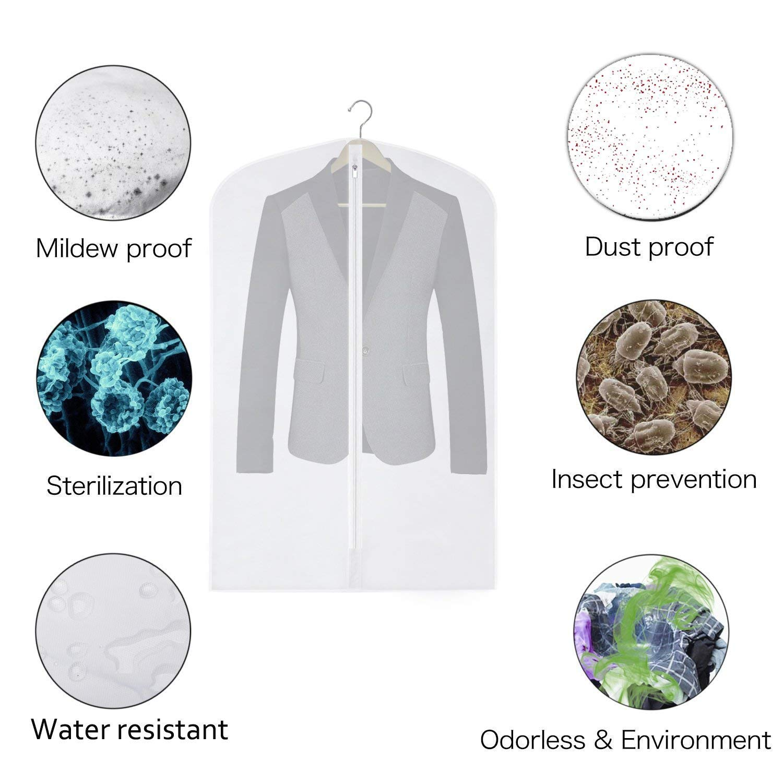 Transparente 6 Unidades, Material Transpirable, Transparente Saco para Ropa Peva Mixed 9 Pack Ximger