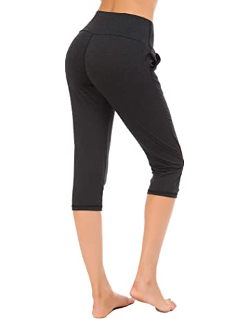 494865b5d70d1 FISOUL Womens Athletic Pants Power Stretch High Waist Workout Yoga Pants  Fitness Tights Active Running Leggings