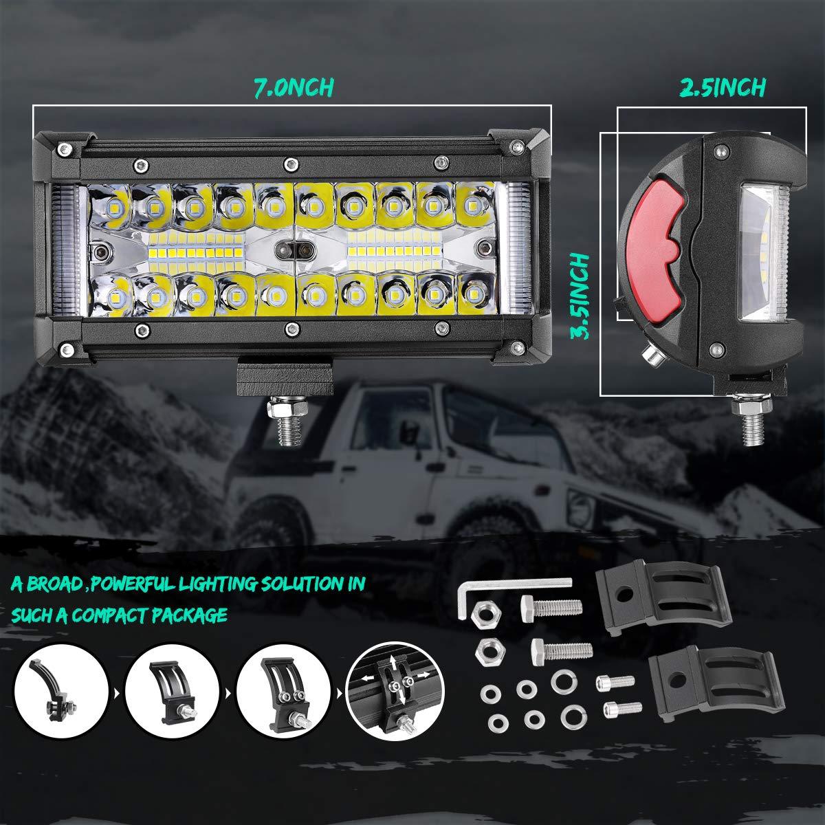 2 Yr Warranty LED Light Bar 30 Swatow Industries 230W OSRAM Spot Flood Combo Slim Off Road Light Bar Dual Row Fog lights Work Lights LED Bumper Lights LED Driving Lights for Truck SUV UTV ATV Boat