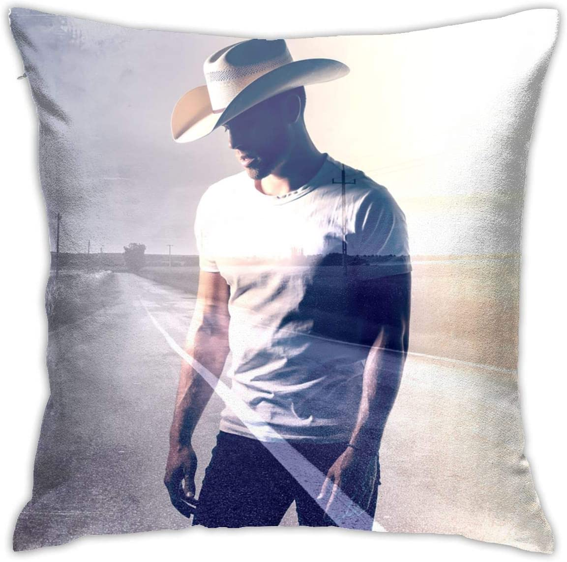 XEERAS Dustin Lynch Ridin' Roads Novelty Pillow Case Soft Comfortable Durable Decoration Cushion Cover Suit for Sofa Bedroom Living Room Chair Car Office