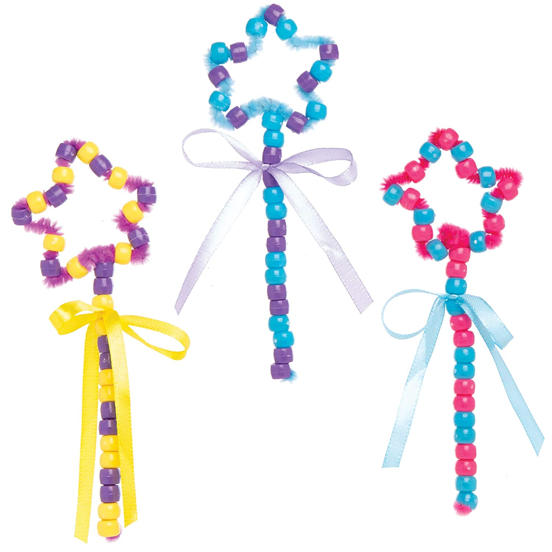 Baker Ross Kits Cuentas Varita M/ágica Actividad de manualidades infantiles de Pascua para decorar y jugar Paquete de 5
