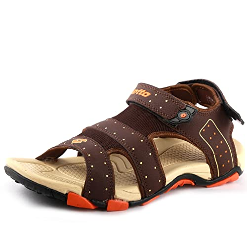 05b790e58 Lotto Men s Brown Beige Sandals and Floaters  Buy Online at Low ...