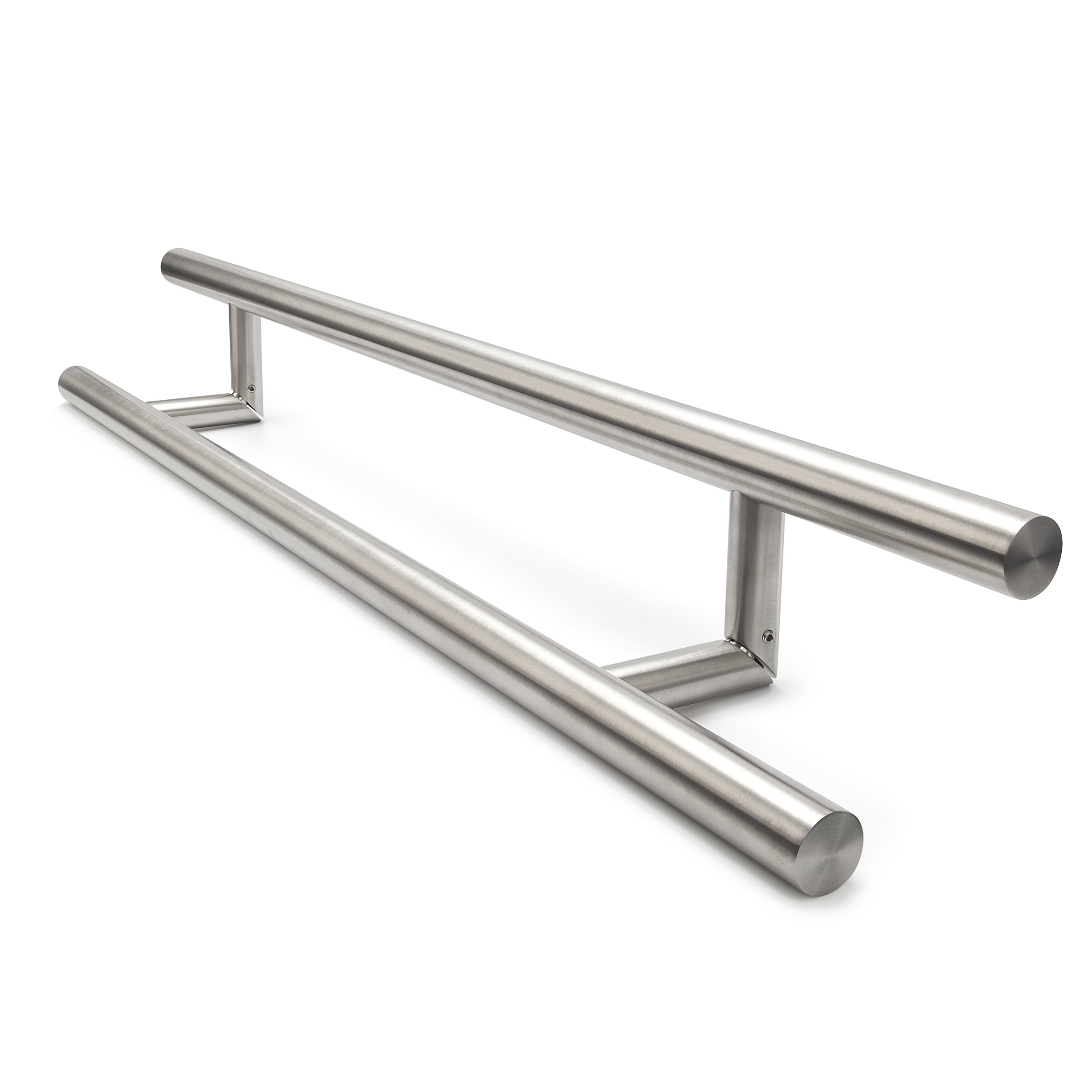 O-104 Oblique Modern Stainless Steel Sus304 Entrance Entry Commercial Office Store Front Wood Timber Glass Garage Aluminum Business Office Door Pull Push Handles Double-sided (48 Inches /1200x32mm)