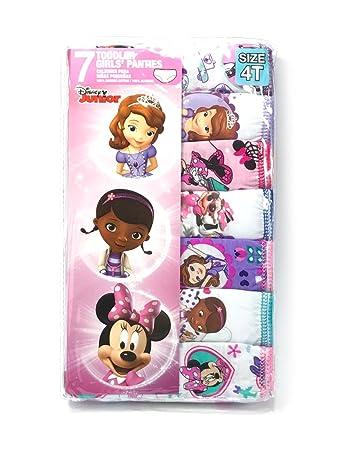 2ef66d6c36c4c Amazon.co.jp: ディズニージュニア Disney Jr. ドドラーガールズ ショーツ パンツ 柄おまかせ 7枚セット 女の子用  ちいさなプリンセスソフィア ミニー ドックは ...