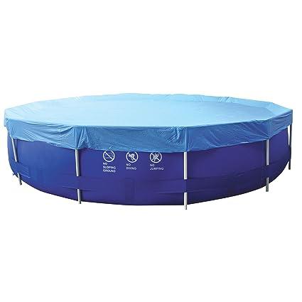 Amazon.com : 17.5\' Blue Durable Apertured Round Swimming ...