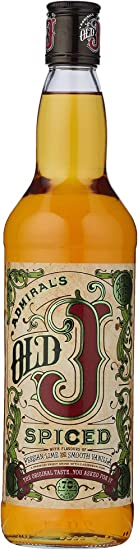 Admiral Vernons Old J Spiced Rum 35%
