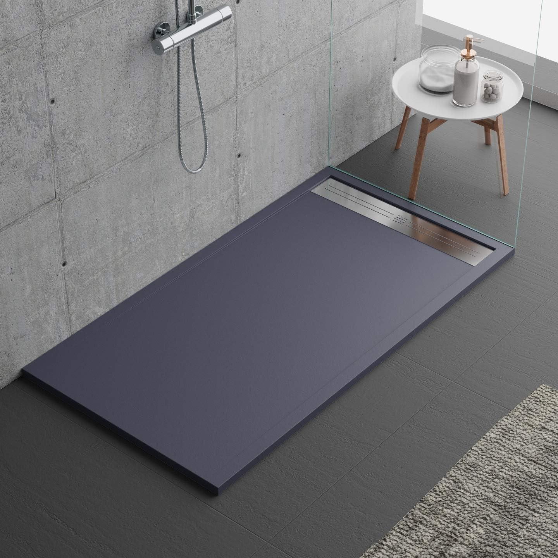 Plato de ducha de color antracita, diseño moderno, modelo Malaga ...