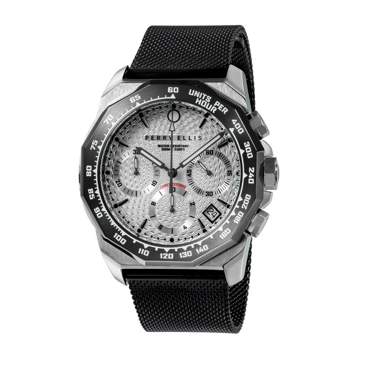 Perry Ellis 09006-04#MB107 - Reloj analógico de Cuarzo para Hombre ...