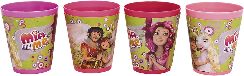 230 ml Mia and Me Trinkbecher 4 St/ück 8 x 9 cm Joy Toy 118144 Plastik