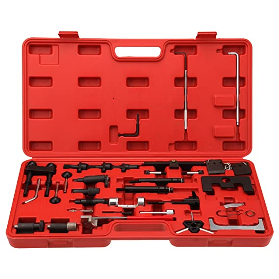 ridgeyard 36 piezas ajustar juego de herramientas para encendido de motor VW AUDI VAG Skoda Asiento para gasolina Diesel Motor con funda de transporte: ...