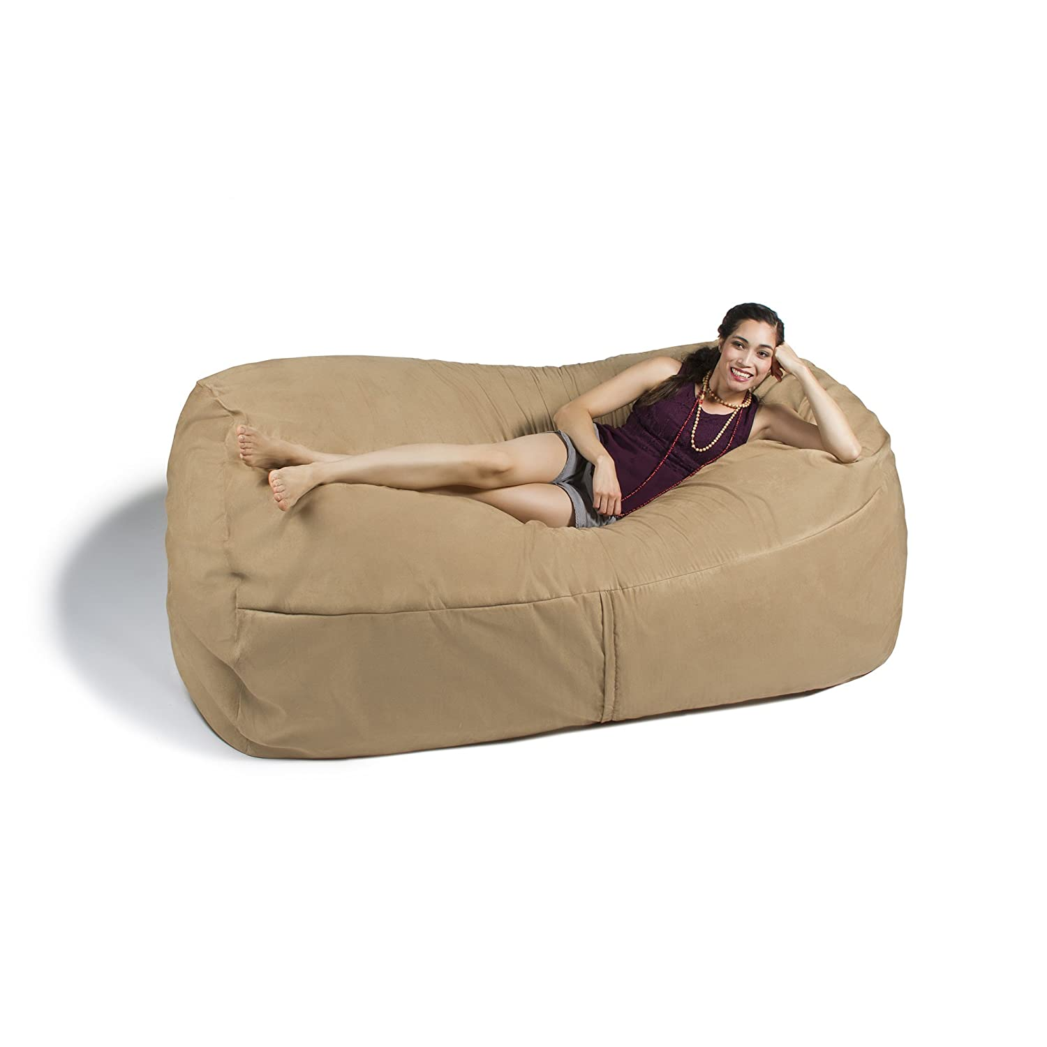 Amazon Jaxx Giant Bean Bag Lounger 7 Foot Camel Toys Games
