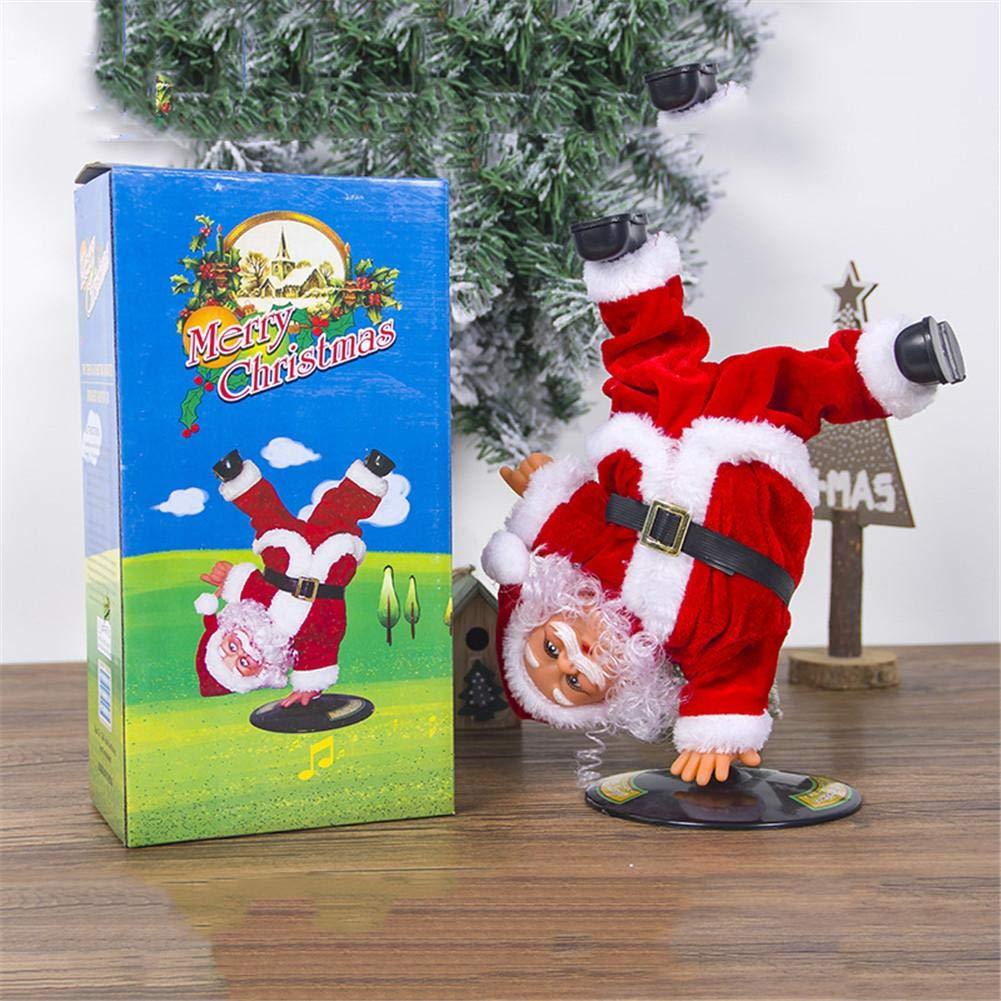 P/ère No/ël Anim/é Qui Chante Et Danse Swinging Santa Cadeau De No/ël Homme Multicolore Jingle Bells Id/ée Cadeau pour LAvent Femme- 27 Cm