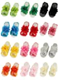 Lovinglove Baby Barefoots Sandals Chiffon Foot Flower Feet Accessories (12 Packed)