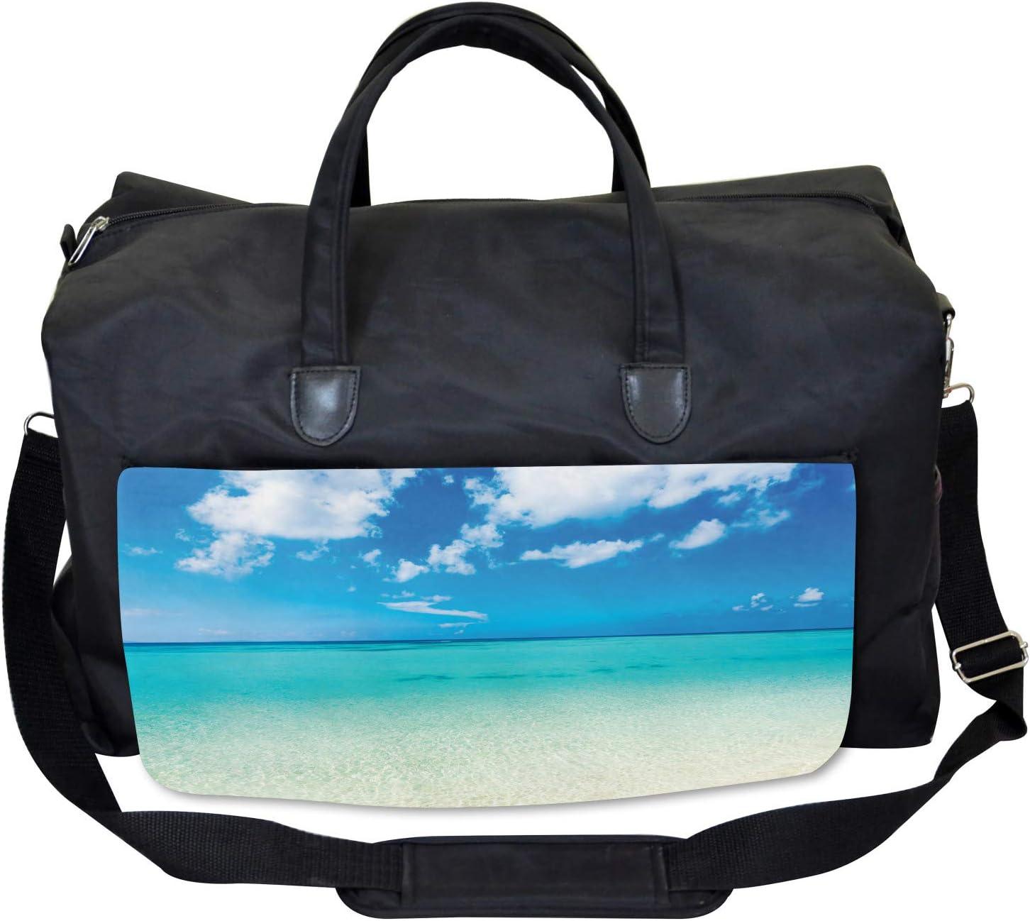 Ocean Dreamy Sea Beach Large Weekender Carry-on Ambesonne Summer Gym Bag