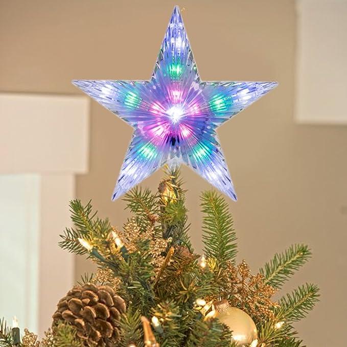 Runfon Led Lampe Sapin Haut Etoile Decoration Darbre De Noel