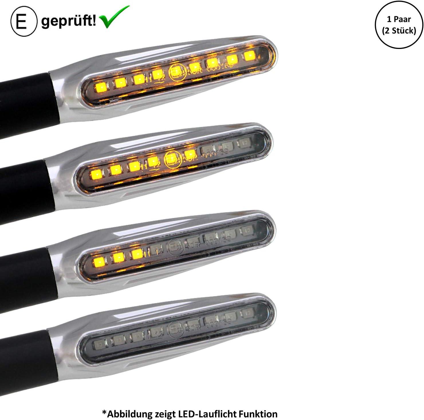 LED Blinker kompatibel mit Honda VTX 1800 E-Gepr/üft // 2St/ück B16 VTX 1300 // X-Eleven 1100