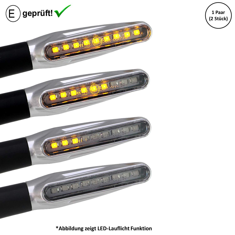Business E-Gepr/üft // 2St/ück 400 LED Blinker Piaggi-o MP3 300 B16 ASR Sport 500