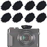SUNMON Camera Mic Windscreen, Furry Wind Muff Wind Cover for DSLRs Mic Outdoor Windshield (8 Pack)