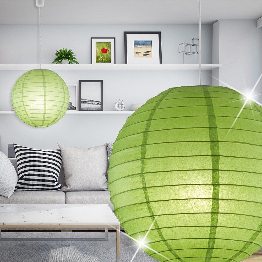 Hängelen Für Hohe Räume light moderne hängeleuchte in kugelform aus papier in grün