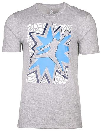 7f34ce0603e NIKE Air Jordan Jumpman Basketball T-Shirt 875046 063 Gray (S ...