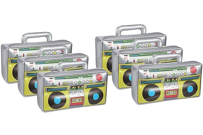 Juguete inflable Boombox de 6 piezas, artículos de fiesta ...